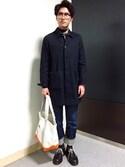 taichiさんの「DENIM NOIR NEW STANDARD(A.P.C.|アー・ペー・セー)」を使ったコーディネート