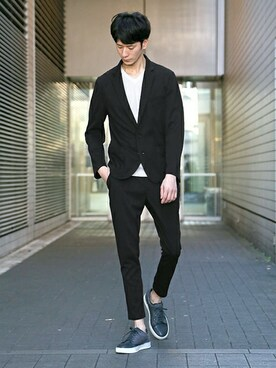 LANVIN en Bleu 本社|DANNYさんのテーラードジャケット「Stretch Jersey Two Button Jacket