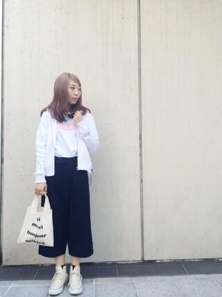 MILKFED. AT HEAVEN27ラフォーレ原宿|田代綾美さんの「LACE UP ZIP HOODIE(レースアップ/ジップ/フード)(MILKFED.|ミルクフェド)」を使ったコーディネート