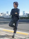 川崎丸井 TK STAFFさんの「ウール混ジレ(tk.TAKEO KIKUCHI|ティーケータケオキクチ)」を使ったコーディネート