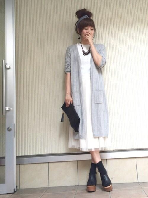 Tu--chanさんの「(BU ACCESSORIES)WE1987/EARRING(ROSE BUD)」を使ったコーディネート