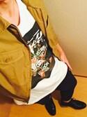 「STUSSY Tops(Stussy)」 using this haru looks
