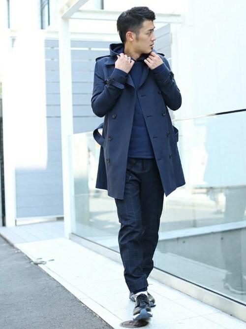 STUDIOUS 原宿本店 | 蒲原さんのトレンチコート「STUDIOUS STUDIOUS コットンテンセルトレンチコート MADE IN JAPAN」を使ったコーディネート