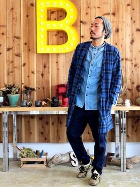 fumioさんの(BLUE BLUE JAPAN|ブルーブルージャパン)を使ったコーディネート