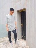 「Rick Owens Oversized Cotton-Jersey T-Shirt(Rick Owens)」 using this レイザーラモンHG looks