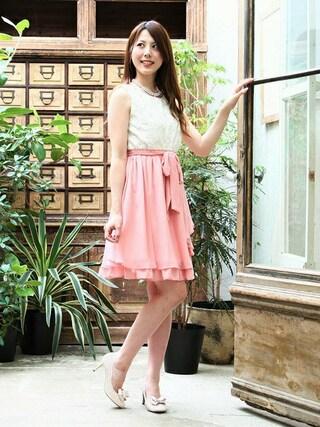 ASTORIA ODIER 新宿店|Neneさんの「3D花モチーフ チェンジングドレス(TRUDEA|トルディア)」を使ったコーディネート