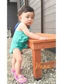 Hanaさんの「UGG/kids:ヒールシープスキン ビーチサンダル(UGG アグ)」を使ったコーディネート
