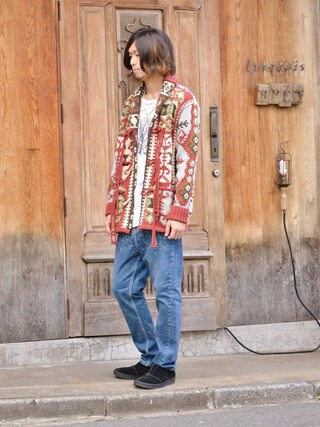 Iroquois HEAD SHOP|IROQUOISさんの「KILIM HAND KNIT INTERSIA(Episode No.,|エピソードナンバー)」を使ったコーディネート