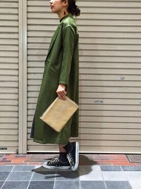 WHO'S WHO gallery 大阪店|kana fujikawaさんの「【BURNINGMAN】フリンジビジューピアス(WHO'S WHO gallery)」を使ったコーディネート