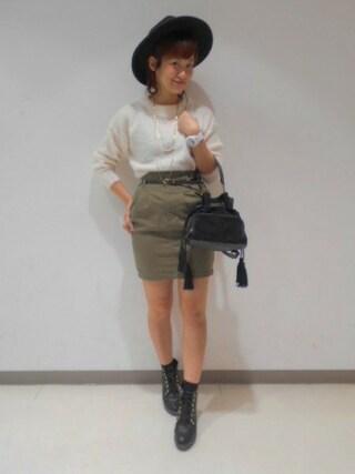 Heather 渋谷パルコ店|Heather 渋谷パルコ店 STAFFさんの「15FWベルトツキコクーンスカート 568418(Heather|ヘザー)」を使ったコーディネート