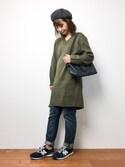 tomoyoさんの「タッセルサイドポケットトートバッグ(HusHusH ハッシュアッシュ)」を使ったコーディネート