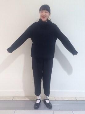 Shiho Kawasakiさんの「EARRING(petite robe noire|プティ ローブ ノアー)」を使ったコーディネート