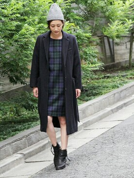 THE DUFFER OF ST.GEORGE|keiさんの「LONG CHESTER FIELD COAT :チェスターコート(The DUFFER of ST.GEORGE)」を使ったコーディネート