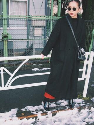 荻原桃子さんの「【MODE】ロールUPワイドテーパードパンツ(MURUA|ムルーア)」を使ったコーディネート