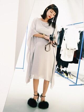 荻原桃子さんの「【UN3D.】WIDE PANEL DRESS/ワイドパネルドレス(UN3D.|アンスリード)」を使ったコーディネート