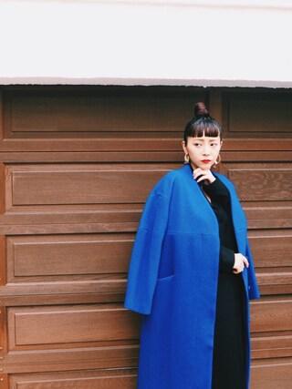 荻原桃子さんの「【UN3D.】BACK FLAP LONG COAT/バックフラップロングコート(UN3D.|アンスリード)」を使ったコーディネート