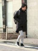 enoさんの「【国内エクスクルーシブ】VANS / バンズ: LIMITED SK8-HI CUP / スケートハイ#(VANS バンズ)」を使ったコーディネート
