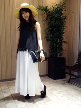 N. Natural Beauty Basic* OFFICE|fuji*さんの「ロングブリムキャペリン帽(N. Natural Beauty Basic)」を使ったコーディネート