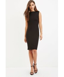 Forever 21「FOREVER 21 Boat Neck Bodycon Dress(One piece dress)」