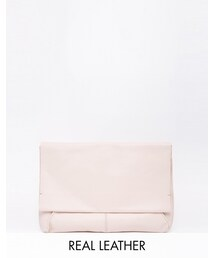 Asos「ASOS COLLECTION ASOS Unlined Soft Leather Flap Over Clutch Bag(Clutch)」