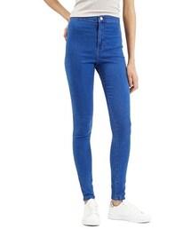Topshop「Topshop Moto 'Joni' High Rise Skinny Jeans (Bright Blue) (Short)(Denim pants)」