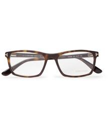 Tom Ford「Tom Ford Square-Frame Tortoiseshell Acetate Optical Glasses(Glasses)」