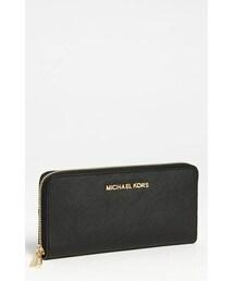 MICHAEL Michael Kors「MICHAEL Michael Kors 'Jet Set' Saffiano Zip Around Wallet(Wallet)」