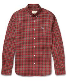 MAISON KITSUNÉ「Maison Kitsuné Slim-Fit Plaid Cotton-Flannel Shirt(Shirts)」