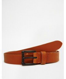 Asos「ASOS BRAND ASOS Leather Belt In Tan With Black Buckle(Belt)」