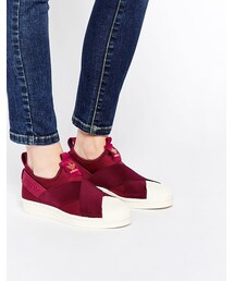 adidas「adidas Originals Burgundy Slip On Sneakers(Sneakers)」
