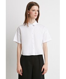 Forever 21「FOREVER 21 Boxy Cotton-Blend Shirt(Shirts)」