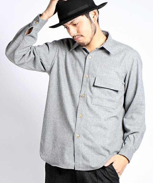 Auralee super soft flannel shirt wear for Super soft flannel shirts