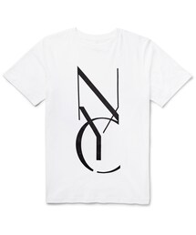 Saturdays Surf NYC「Saturdays Surf NYC NYC Stencil Printed Cotton-Jersey T-Shirt(T Shirts)」