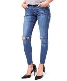 Topshop「Topshop Moto 'Leigh' Ripped Skinny Jeans (Petite)(Denim pants)」