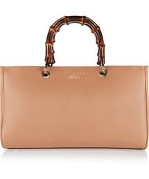 Gucci「Gucci Bamboo Shopper Medium Textured-Leather Tote(Tote)」