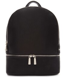 Forever 21「FOREVER 21 Double Zipper Faux Leather Backpack(Backpack)」