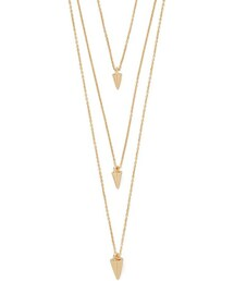 Forever 21「FOREVER 21 Cone Charm Layered Necklace(Necklace)」