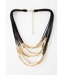 Forever 21「FOREVER 21 Tube Bead Layered Necklace(Necklace)」