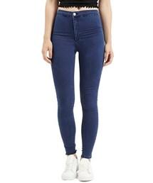 Topshop「Topshop Moto 'Joni' High Rise Skinny Jeans (Blue) (Short)(Denim pants)」