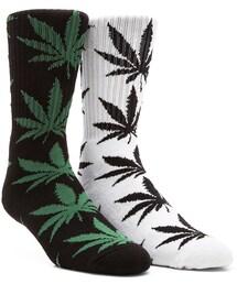 HUF「Plantlife Crew Socks in White, Huf Plantlife Crew Socks(Socks & Tights)」