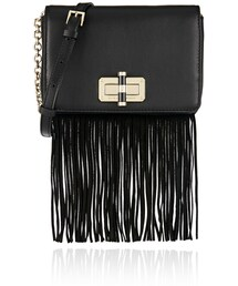 Diane von Furstenberg「Diane von Furstenberg Diane Von Furstenberg 440 Gallery Bellini Fringed Leather and Suede Shoulder Bag(Clutch)」