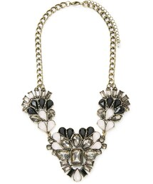 Forever 21「FOREVER 21 Clustered Faux Gem Necklace(Necklace)」