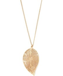 Forever 21「FOREVER 21 Cutout Leaf Pendant Necklace(Necklace)」