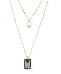 Forever 21「FOREVER 21 Faux Gem Layered Necklace(Necklace)」
