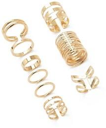 Forever 21「FOREVER 21 Caged Midi Ring Set(Ring)」