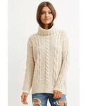 Forever 21 | FOREVER 21 Cable Knit Turtleneck Sweater(Knitwear)