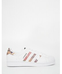 adidas「adidas Originals White Superstar With Floral Trim Sneakers(Sneakers)」