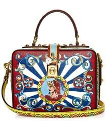 Dolce & Gabbana「Dolce & Gabbana Rosaria Carretto-print leather shoulder bag(Shoulderbag)」