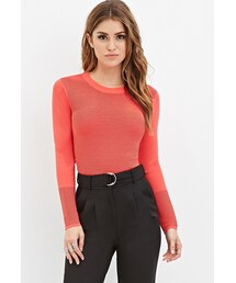 Forever 21「FOREVER 21 Ribbed Knit Cropped Sweater(Knitwear)」