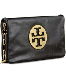 Tory Burch「Tory Burch Reva Glazed Leather Clutch Bag, Women's(Clutch)」
